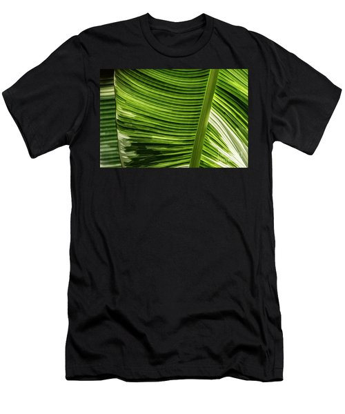 Men's T-Shirt (Athletic Fit) featuring the photograph Banana Leaf Structure by Brad Allen Fine Art