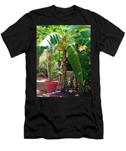 Banana Tree Men's T-Shirt (Slim Fit) by David  Van Hulst