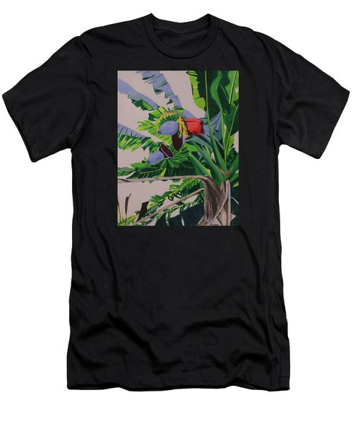 Bananas Men's T-Shirt (Slim Fit) by Hilda and Jose Garrancho