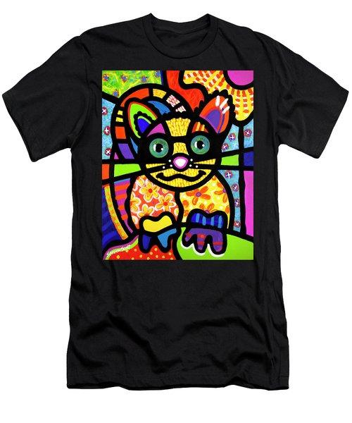 Bandit The Lemur Cat Men's T-Shirt (Athletic Fit)
