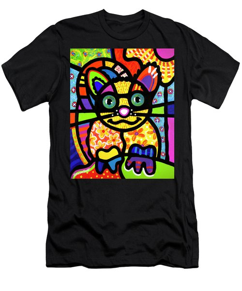 Bandit The Lemur Cat Men's T-Shirt (Athletic Fit)