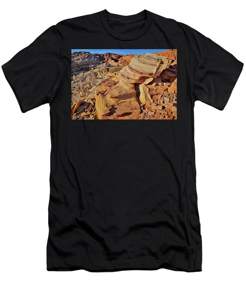 Bands Of Colorful Sandstone In Valley Of Fire Men's T-Shirt (Athletic Fit)
