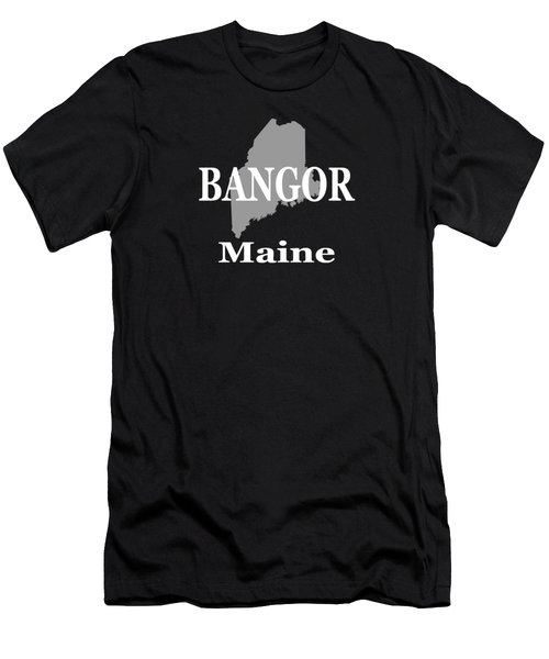 Bangor Maine State City And Town Pride  Men's T-Shirt (Athletic Fit)