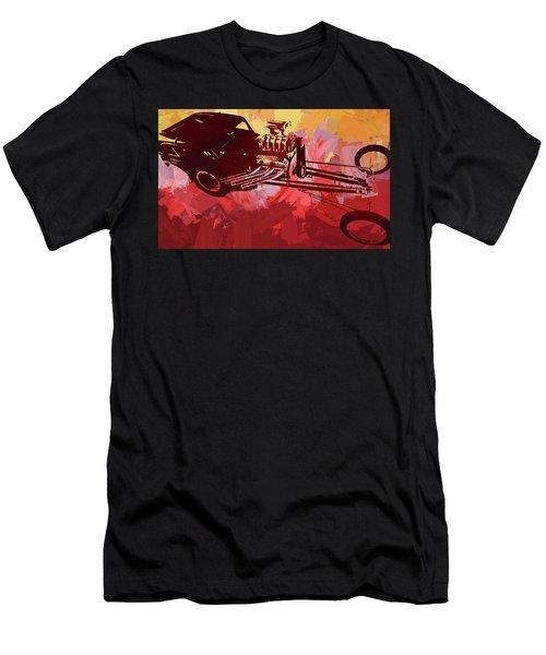 Bantam Dragster Pop Red Men's T-Shirt (Athletic Fit)