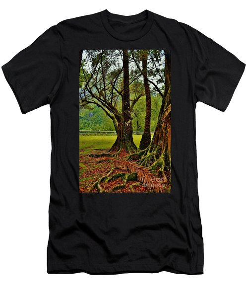 Banyan Tree And Date Palm Men's T-Shirt (Athletic Fit)