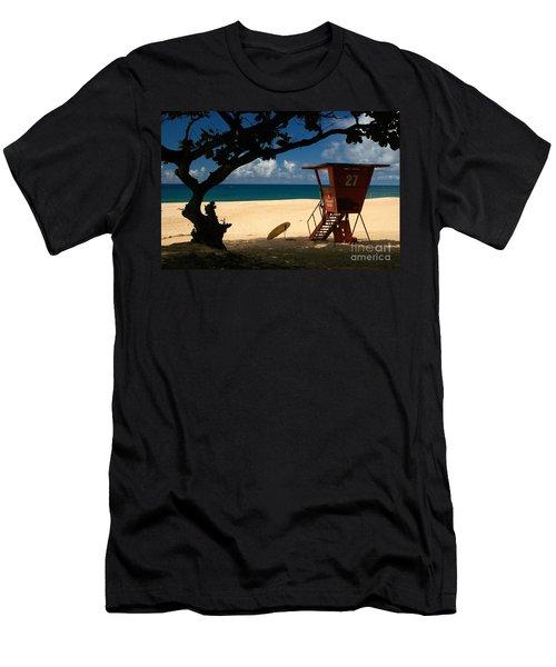 Banzai Beach Men's T-Shirt (Slim Fit) by Mark Gilman