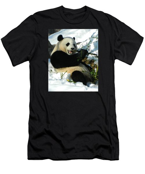 Bao Bao Sittin' In The Snow Taking A Bite Out Of Bamboo2 Men's T-Shirt (Athletic Fit)