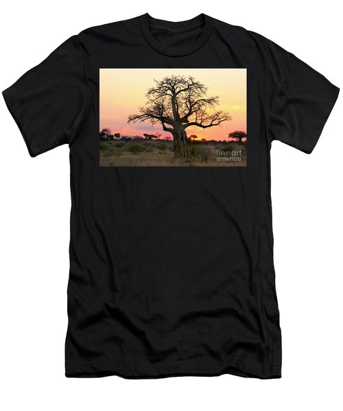 Baobab Tree At Sunset  Men's T-Shirt (Athletic Fit)