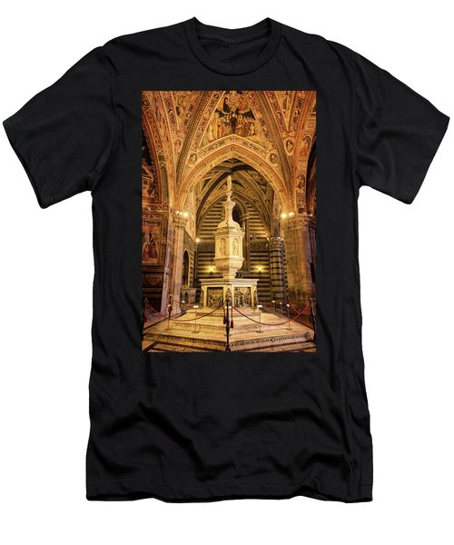 Men's T-Shirt (Slim Fit) featuring the photograph Baptistery Siena Italy by Joan Carroll