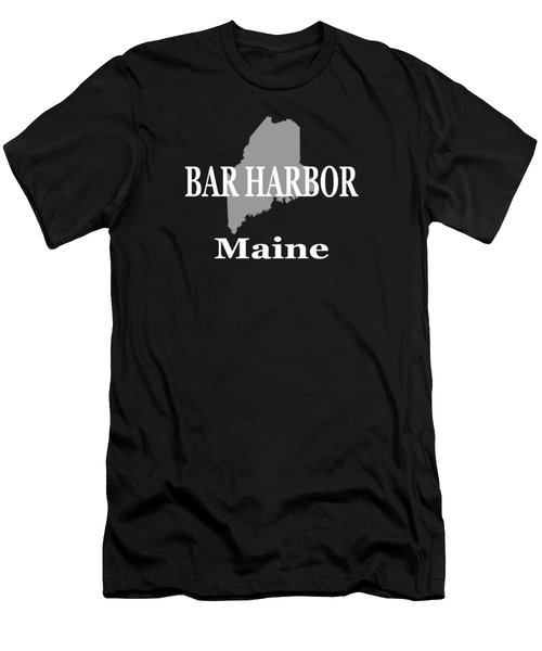 Bar Harbor Maine City And Town Pride  Men's T-Shirt (Athletic Fit)
