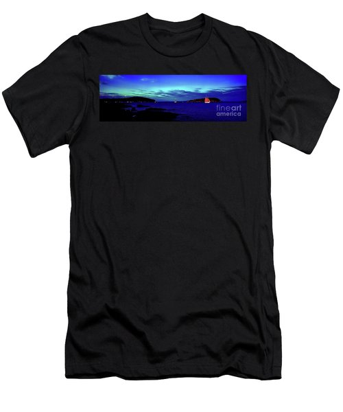Men's T-Shirt (Athletic Fit) featuring the photograph Bar Harbor, Maine Sunset Cruse  by Tom Jelen
