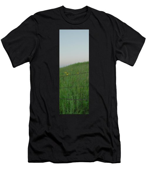 Barb Wire Prairie Men's T-Shirt (Athletic Fit)