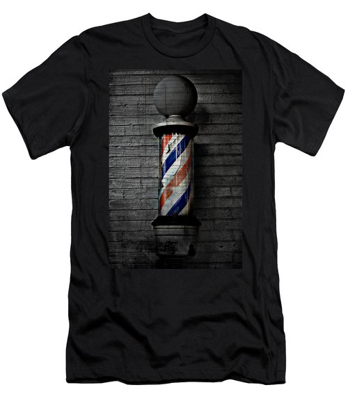 Barber Pole Blues  Men's T-Shirt (Slim Fit) by Jerry Cordeiro