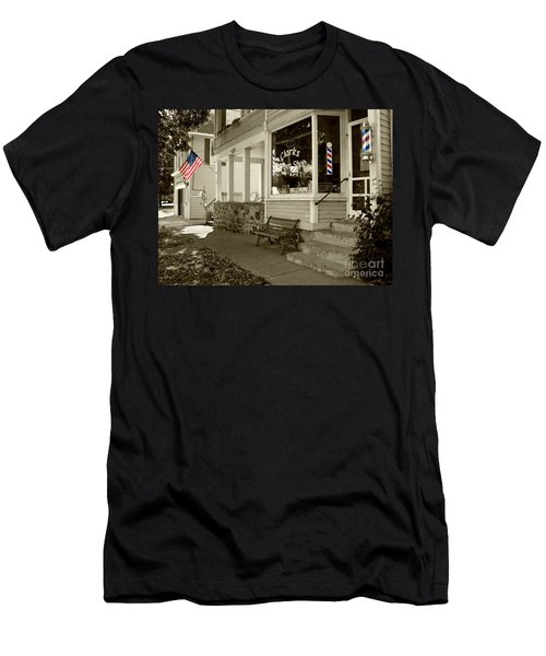 Clarks Barber Shop With Color Men's T-Shirt (Athletic Fit)