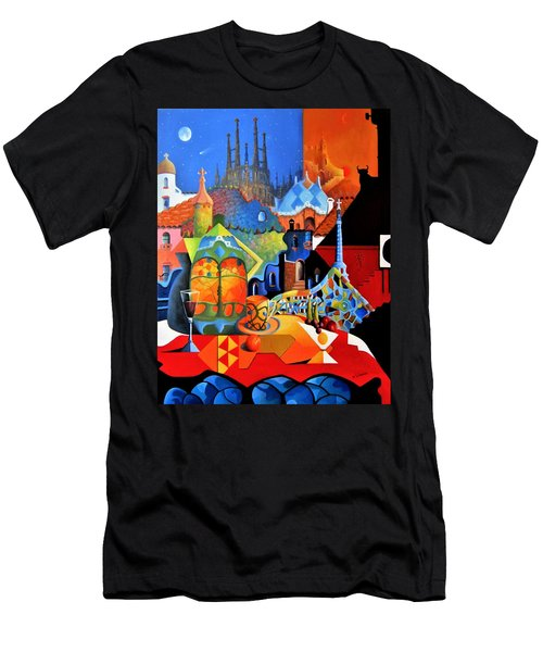 Barcelona Nights Men's T-Shirt (Athletic Fit)