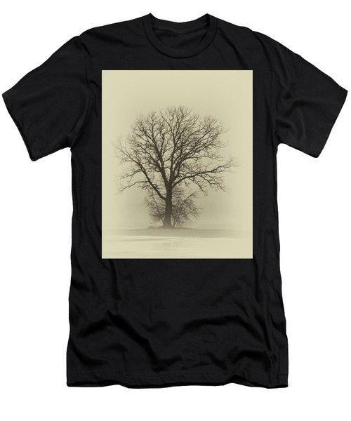 Bare Tree In Fog- Nik Filter Men's T-Shirt (Athletic Fit)