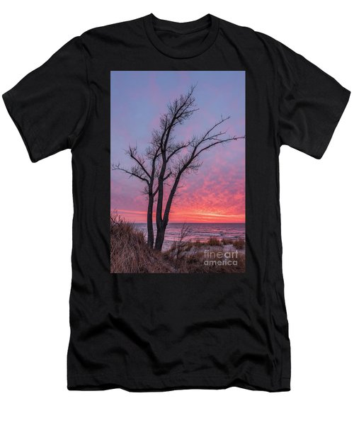 Bare Trees Overlooking A Beautiful Sunset Men's T-Shirt (Athletic Fit)