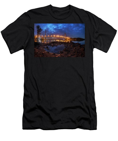 Men's T-Shirt (Athletic Fit) featuring the photograph Barelang Bridge, Batam by Pradeep Raja Prints