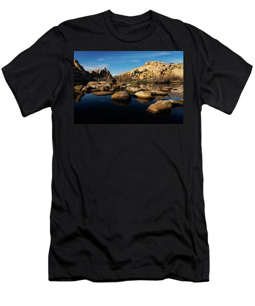 Men's T-Shirt (Athletic Fit) featuring the photograph Barker Dam Lake by John Hight