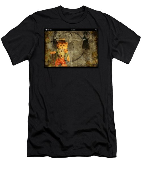 Men's T-Shirt (Athletic Fit) featuring the digital art Barker by Delight Worthyn
