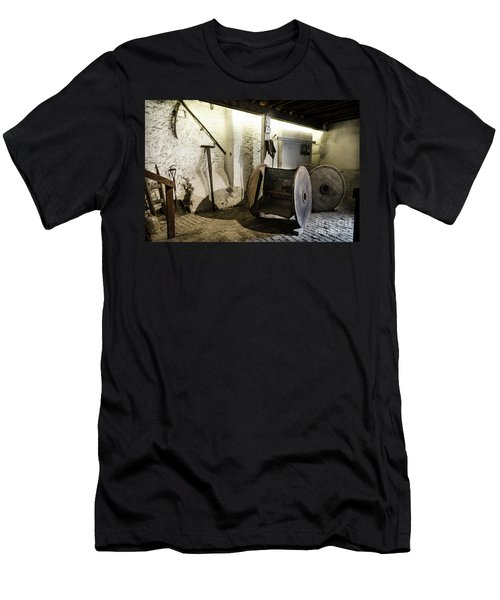 Men's T-Shirt (Slim Fit) featuring the photograph Barley Warehouse At Lockes Distillery by RicardMN Photography