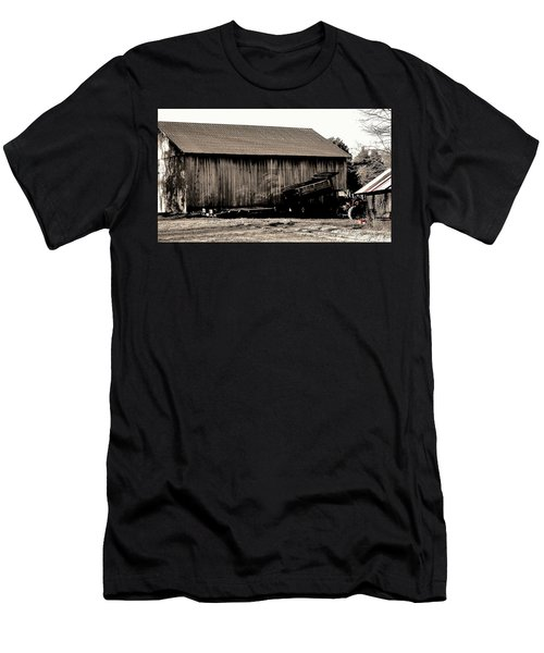 Barn And Truck Men's T-Shirt (Athletic Fit)
