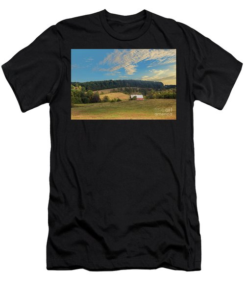 Barn In Field Men's T-Shirt (Athletic Fit)