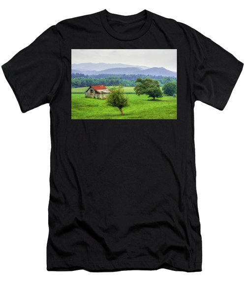Barn In Smokies 2 Men's T-Shirt (Athletic Fit)