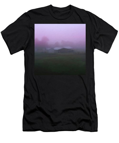Barn On A Misty Morning Men's T-Shirt (Athletic Fit)
