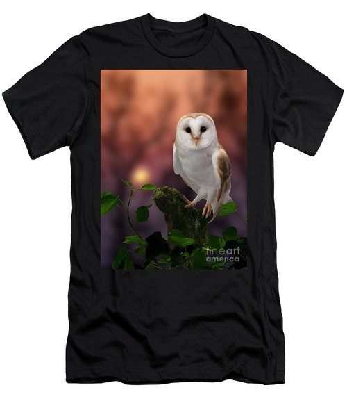 Barn Owl At Sunset Men's T-Shirt (Athletic Fit)
