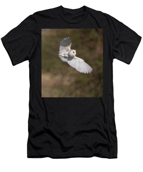 Barn Owl Wings Men's T-Shirt (Athletic Fit)