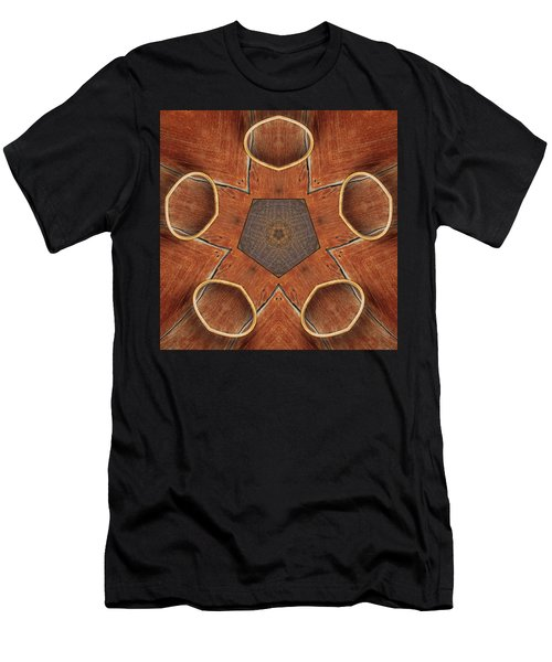 Barn Wood Kaleidoscope 2  Men's T-Shirt (Athletic Fit)