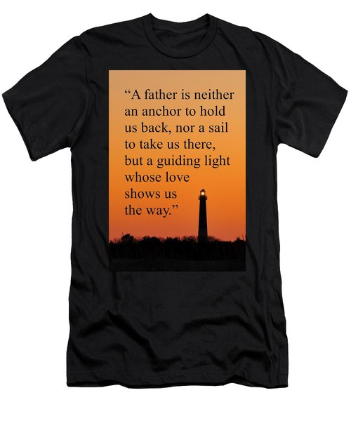 Barnegat Lighthouse With Father Quote Men's T-Shirt (Athletic Fit)