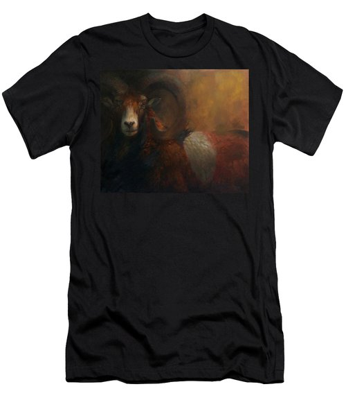 Baroque Mouflon Portrait Men's T-Shirt (Athletic Fit)