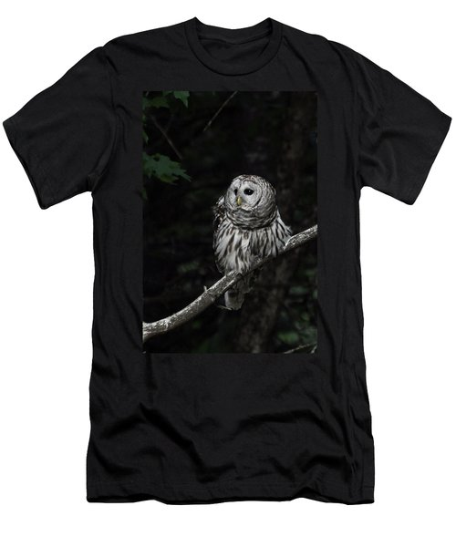 Men's T-Shirt (Slim Fit) featuring the photograph Barred Owl 2 by Glenn Gordon