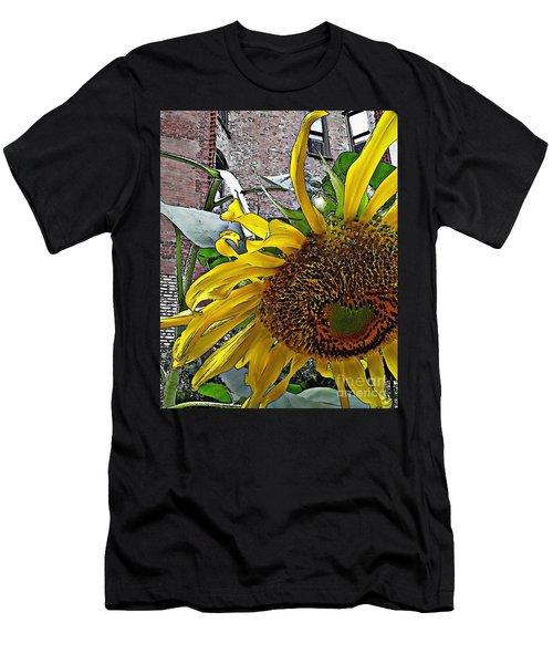 Barrio Sunflower 3 Men's T-Shirt (Athletic Fit)