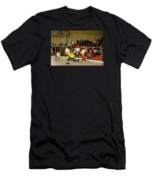 Bart Vs Homer Simpson At The Roller Derby Men's T-Shirt (Athletic Fit)
