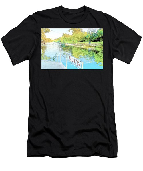Barton Springs Sketch Men's T-Shirt (Athletic Fit)