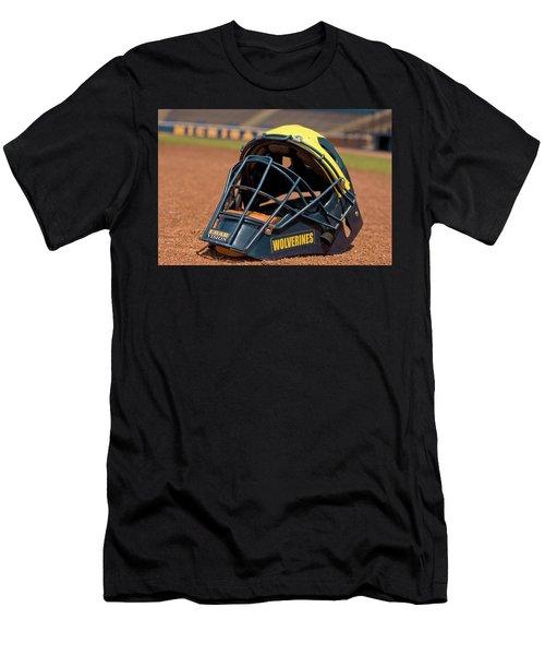 Baseball Catcher Helmet Men's T-Shirt (Athletic Fit)