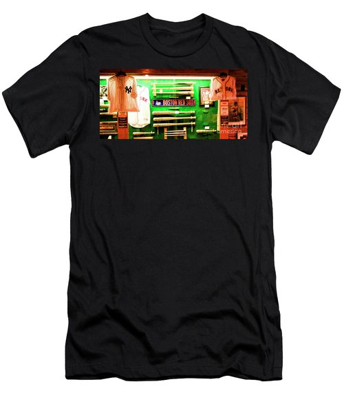 Baseball Display Red Sox's Yankees  Men's T-Shirt (Athletic Fit)
