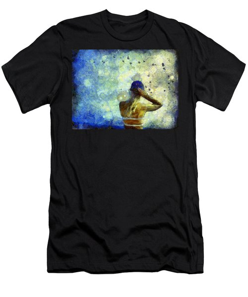 Men's T-Shirt (Athletic Fit) featuring the photograph Baseball Fan by Claire Bull