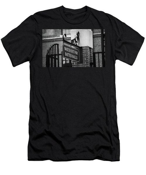 Baseball Warning Bw Men's T-Shirt (Athletic Fit)