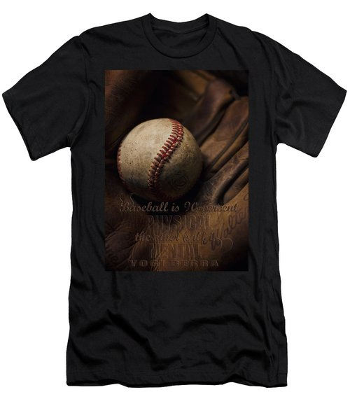 Baseball Yogi Berra Quote Men's T-Shirt (Athletic Fit)