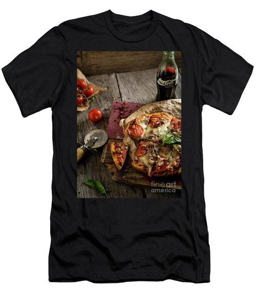 Basil And Mozzarella  Men's T-Shirt (Slim Fit) by Deborah Klubertanz