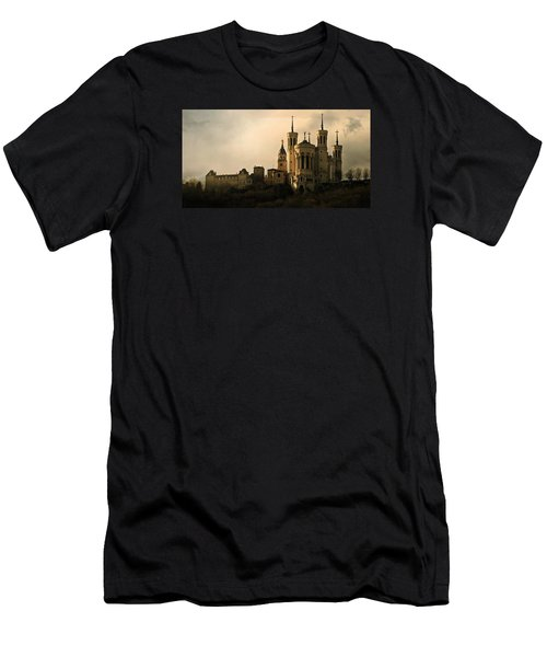 Basilica Of Our Lady Of Fourviere  Men's T-Shirt (Slim Fit) by Katie Wing Vigil