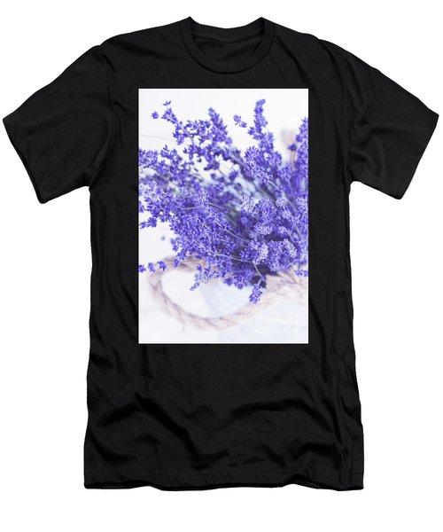 Basket Of Lavender Men's T-Shirt (Athletic Fit)