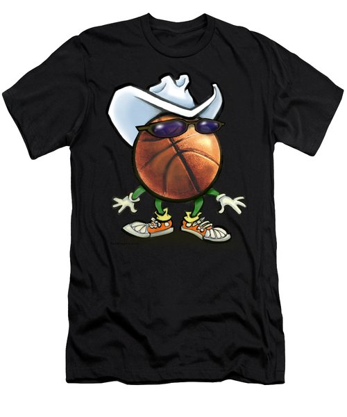 Basketball Cowboy Men's T-Shirt (Athletic Fit)