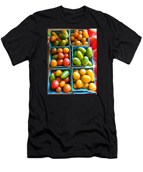 Baskets Of Baby Tomatoes Men's T-Shirt (Slim Fit) by Dee Flouton