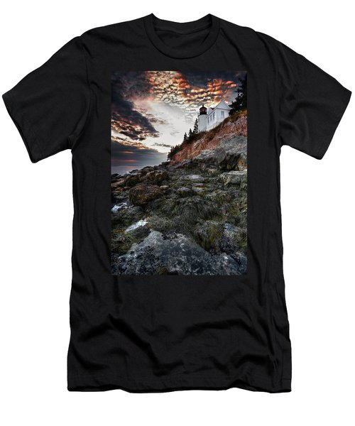 Bass Harbor Light Men's T-Shirt (Athletic Fit)