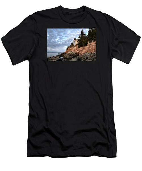 Bass Harbor Light No. 1 - Maine - Acadia Men's T-Shirt (Athletic Fit)